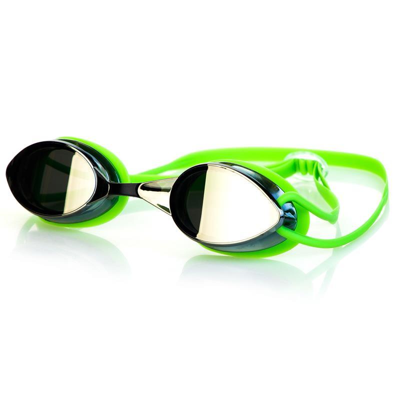 Spokey SPARKI Plavecké brýle, zelené, zrcadlová skla