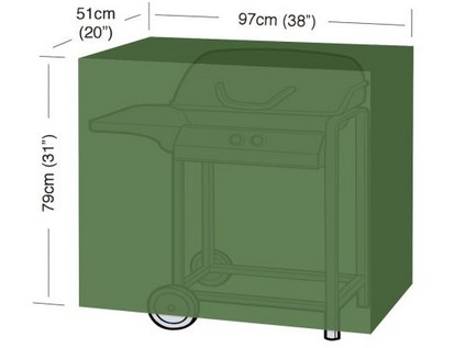 "plachta krycí na gril CLASSIC ""S"" 97x51x79cm, PE 90g/m2"