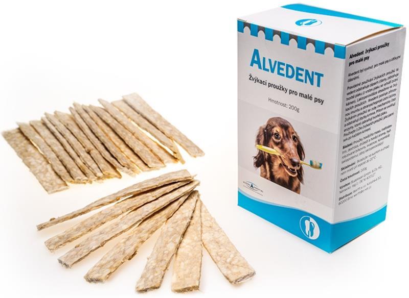 Alvedent žvýkací proužky pro malé psy 20x10g