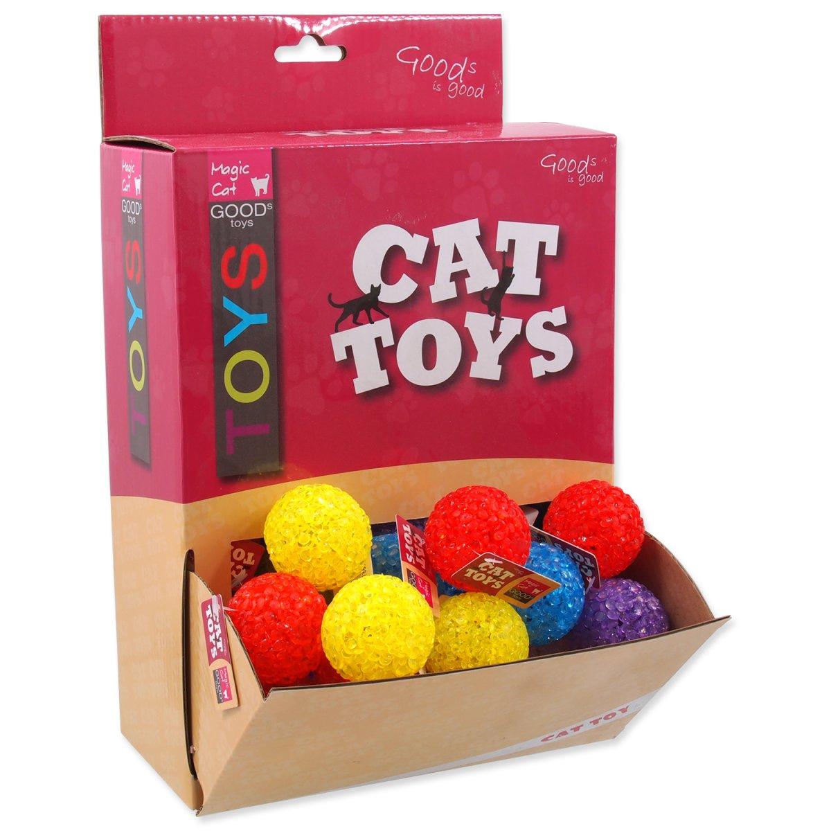 Hračky MAGIC CAT míček plastový 3,8 cm (50ks)