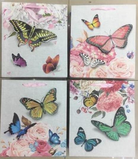 Papírová taška - Motyli