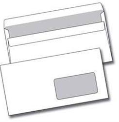 Obálka DL okénko, bílá, samolepící 110x220 mm, 50ks
