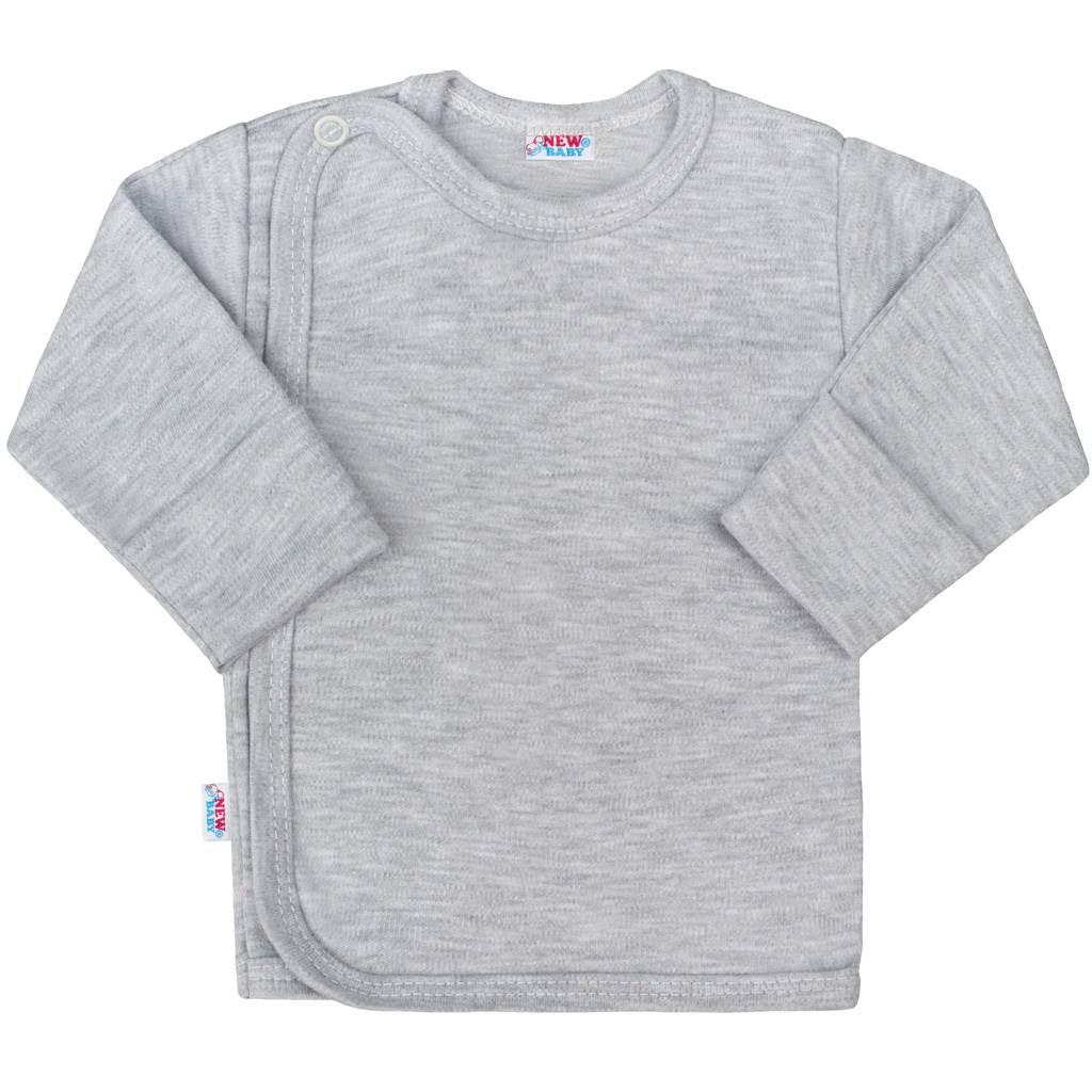 Kojenecká košilka New Baby Classic II šedá - 50