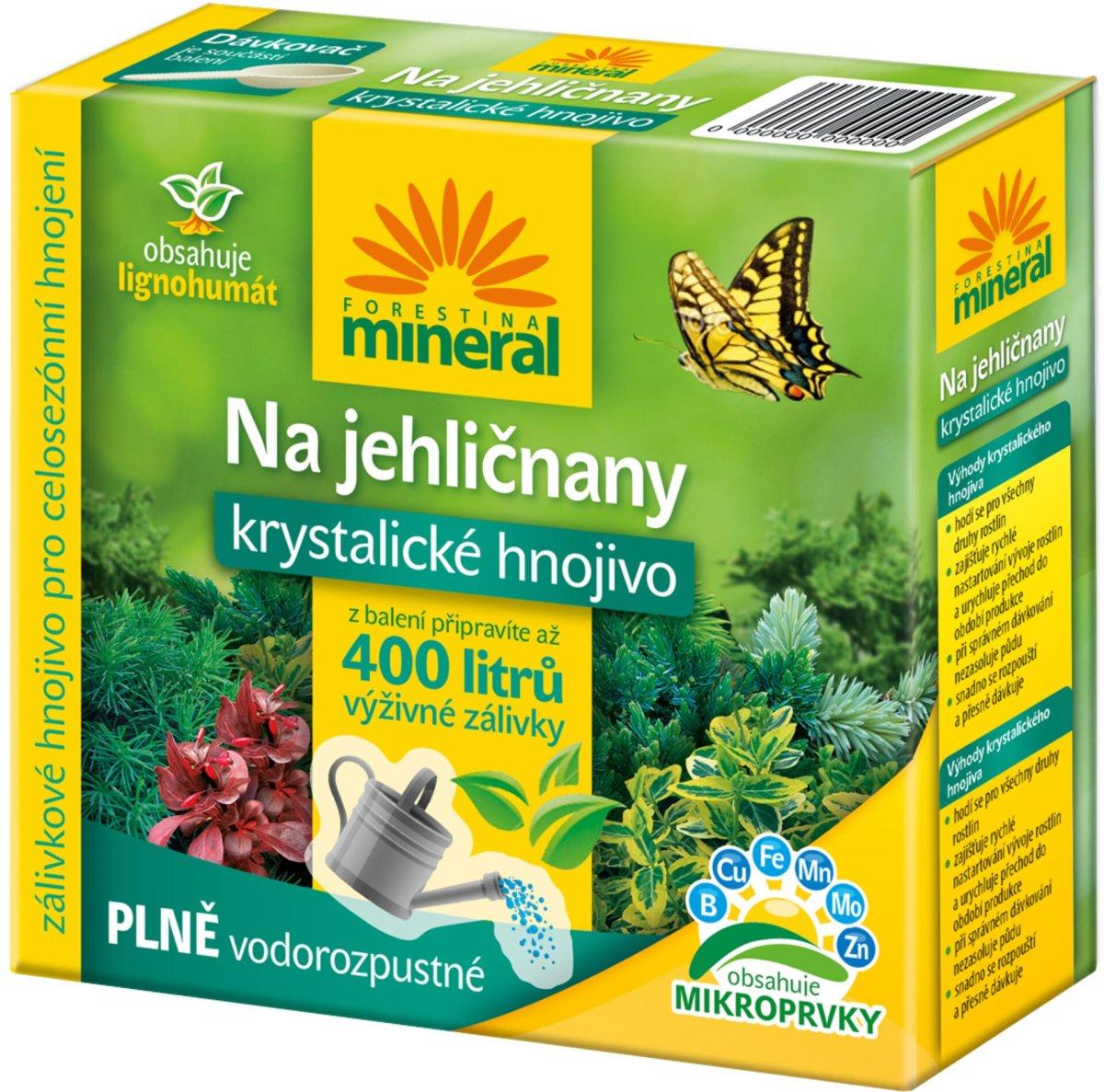 Krystalické hnojivo s lignohumátem - Na jehličnany a okr. keře 400 g