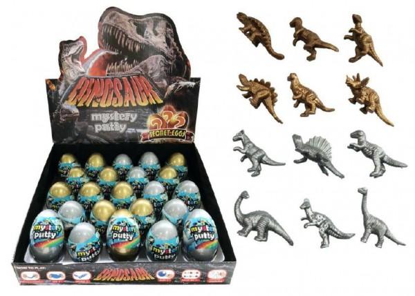 Sliz - hmota vejce dinosaurus 7cm - mix variant či barev