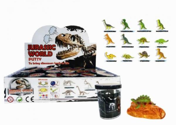 Sliz - hmota 80g Dinosaurus 6cm - mix variant či barev
