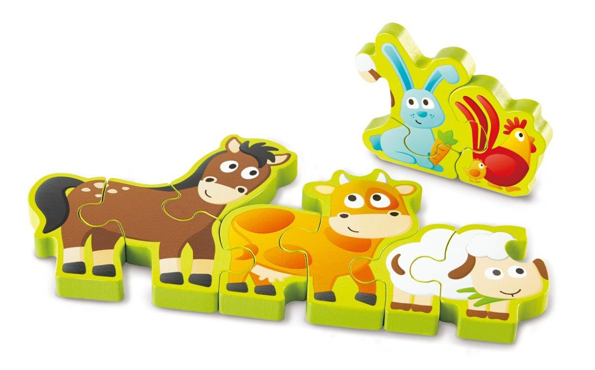 Puzzle - Zvířátka a číslice, 10 dílků