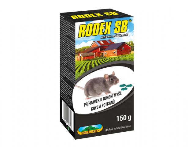 Rodenticid RODEX SB měkká návnada 150g