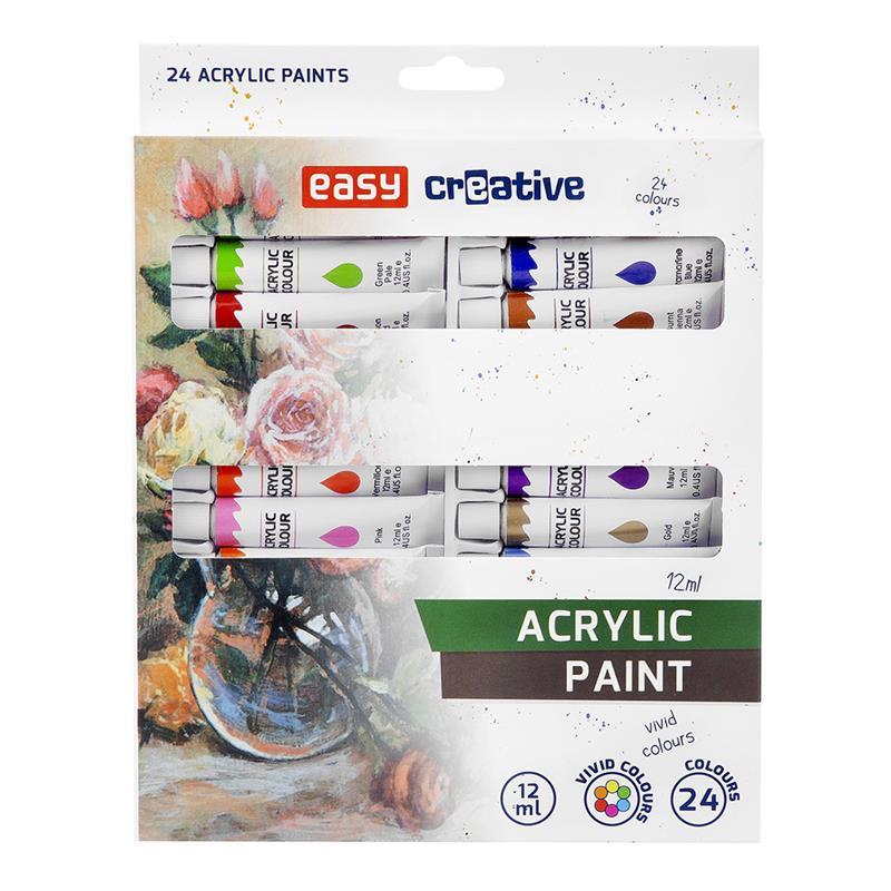 Akrylové barvy 24 ks