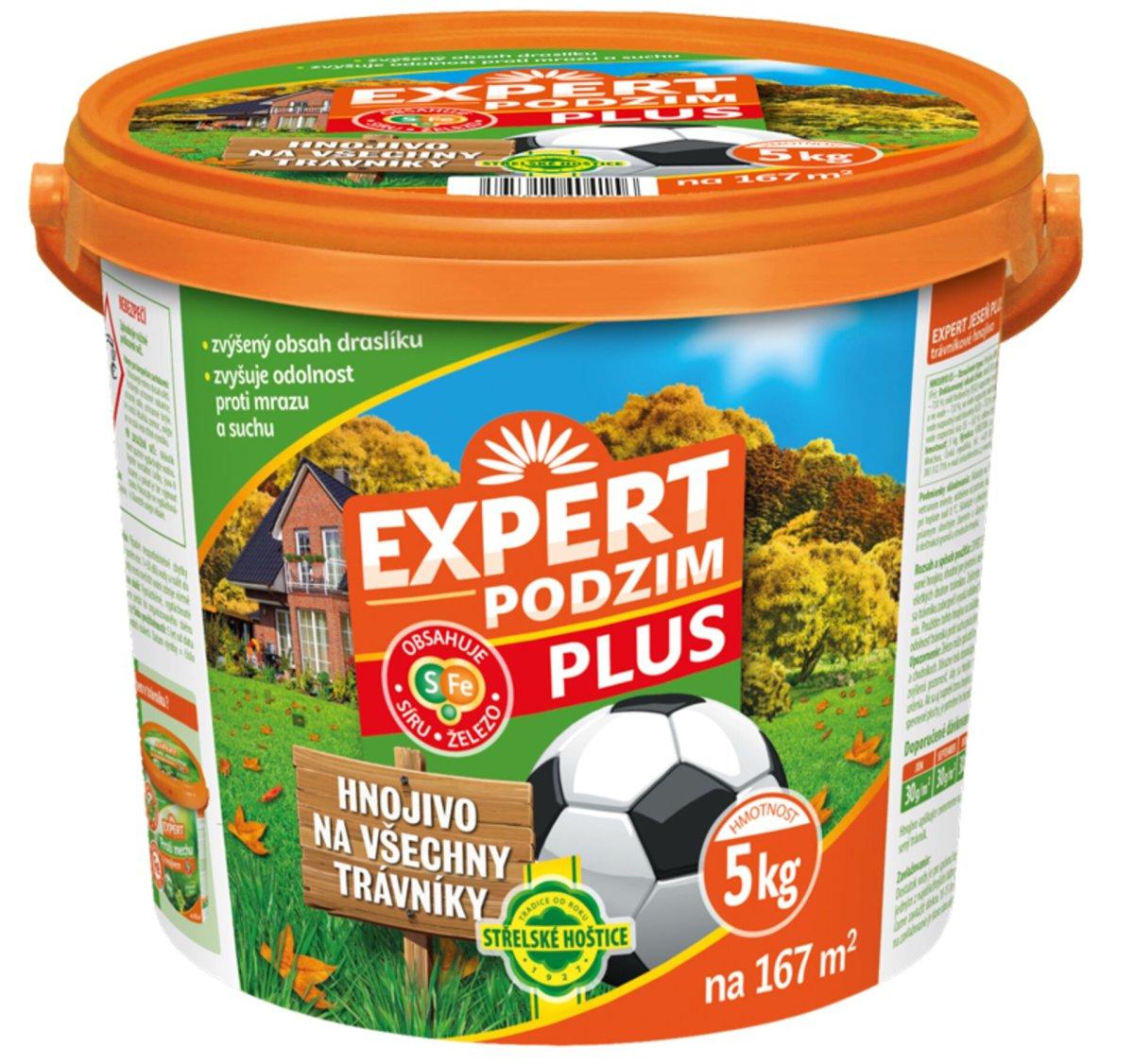 Hnojivo trávníkové - Expert podzim Plus 5 kg kbelík