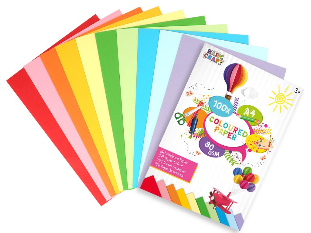 Sada barevných papírů A4