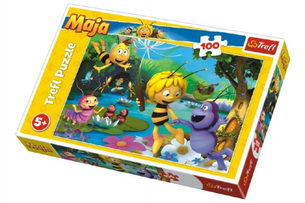Puzzle Včelka Mája s přáteli 100 dílků 41x27,5cm