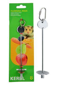 Držák na ovoce, do klece pro hlodavce, kovový 20cm
