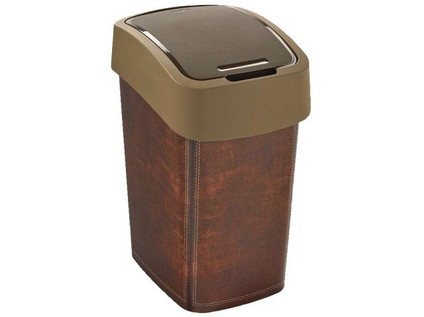 koš odpadkový 25l FLIP LEATHER s víkem plastový