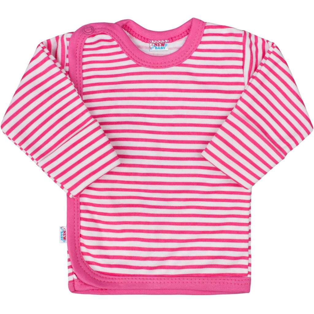Kojenecká košilka New Baby Classic II s růžovými pruhy - 50