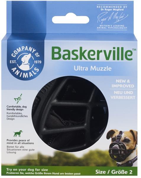 Náhubek plast Baskerville černý The Company vel. 1