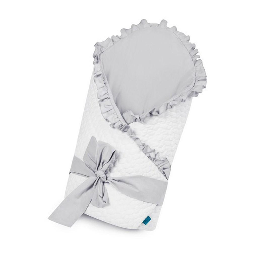 Zavinovačka s mašlí Belisima Králíček bílo-šedá