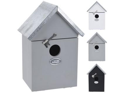 budka ptačí zahnizďovací 14x10x20cm dřevěná - mix barev