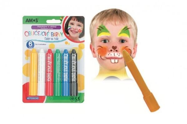 Barvy obličejové v tužce 14x20cm karneval