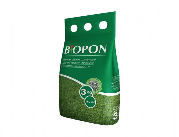 Hnojivo BIOPON na trávník proti plevelům 3kg