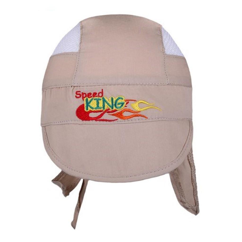 Letní dětská čepička-šátek New Baby Speed King béžová - 116 (5-6 let)