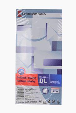 Obálka dlouhá bílá samolepící DL 50ks 110x220mm