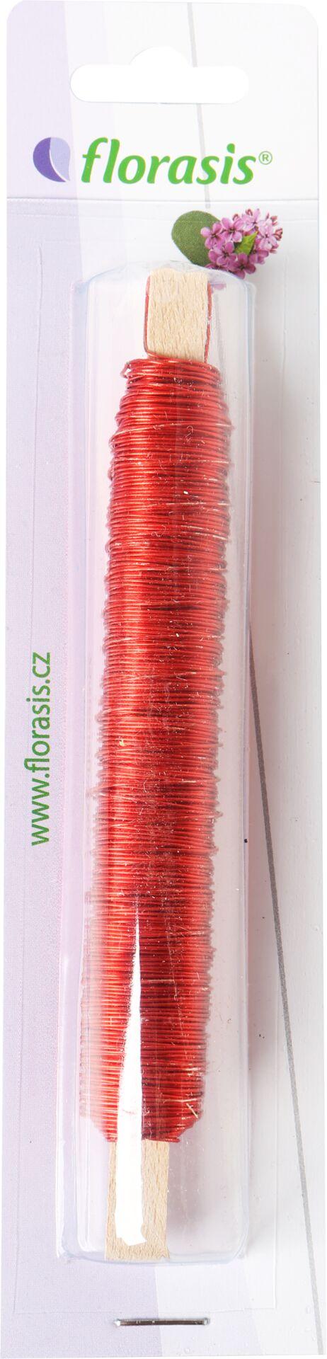 Drát měděný - 0,5 mm x 100 g červený