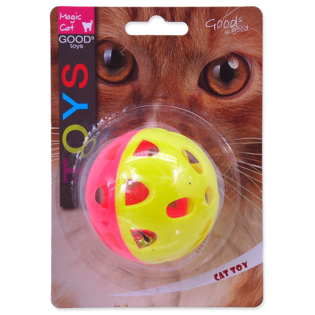Hračka MAGIC CAT míček neonový jumbo s rolničkou 6 cm (1ks)