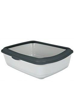 WC kočka s rámem Classic 47x37x15cm TR šedá