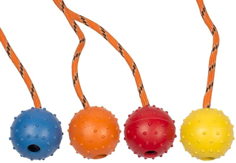 Hračka gumový míček na šňůrce Duvo+
