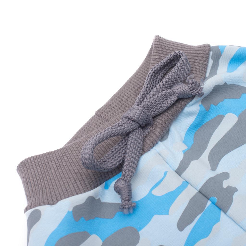 Kojenecké bavlněné tepláčky New Baby With Love modré - 62 (3-6m)