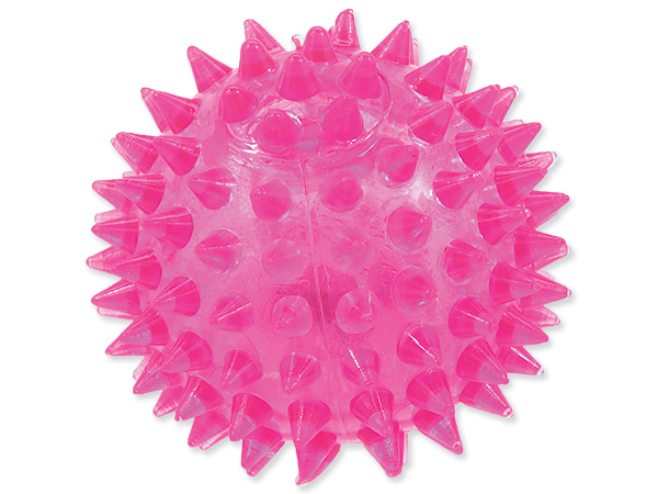 Hračka DOG FANTASY míček LED růžový 6 cm (1ks)