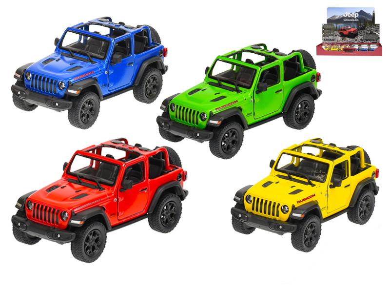 Auto Jeep Wrangler 1:34 kov na zpětný chod - mix barev