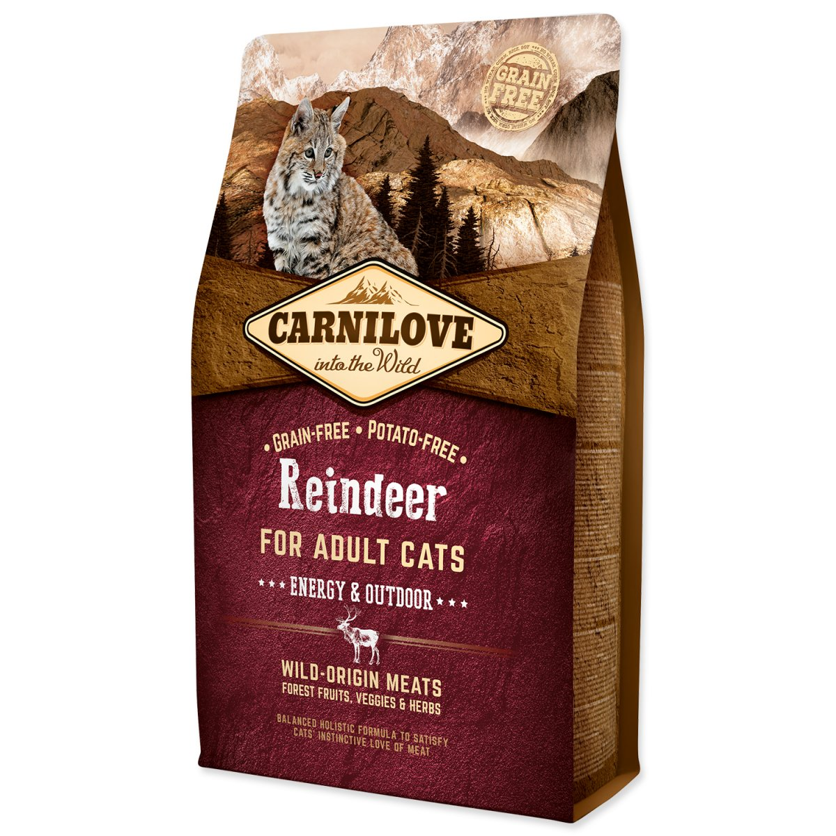 CARNILOVE Reindeer Adult Cats Energy and Outdoor (2kg)