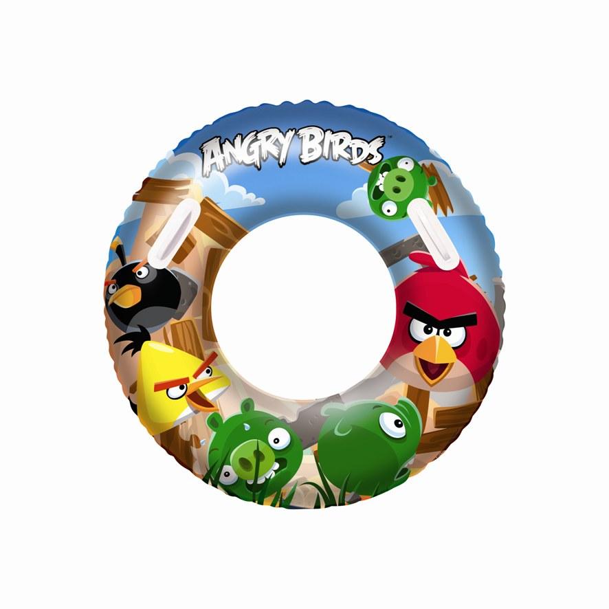 Nafukovací kruh velký - Angry Birds, průměr 91 cm