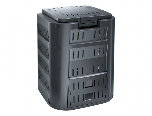 Komposter COMPOGREEN plastový černý 320l