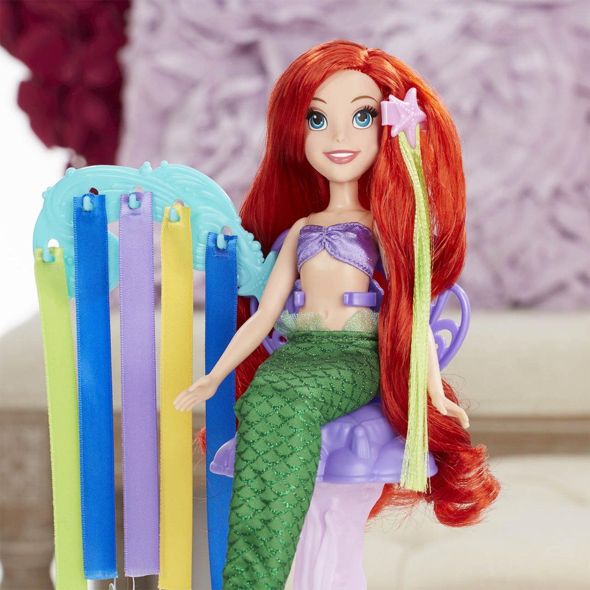 Disney Princezny Panenka s extra dlouhými vlasy a doplňky (Ariel/Locika) - mix variant či barev