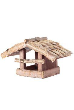 Krmítko pro ptáky dřevěné přírodní nástěnné