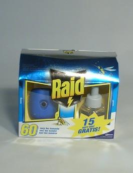 Raid elektr. odpuzovač hmyzu strojek + tek.náplň 21ml
