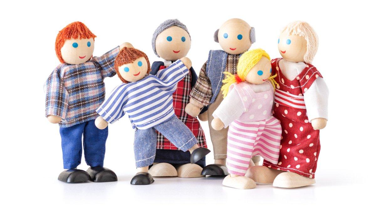 Bábiky do domčeka, 6 ks