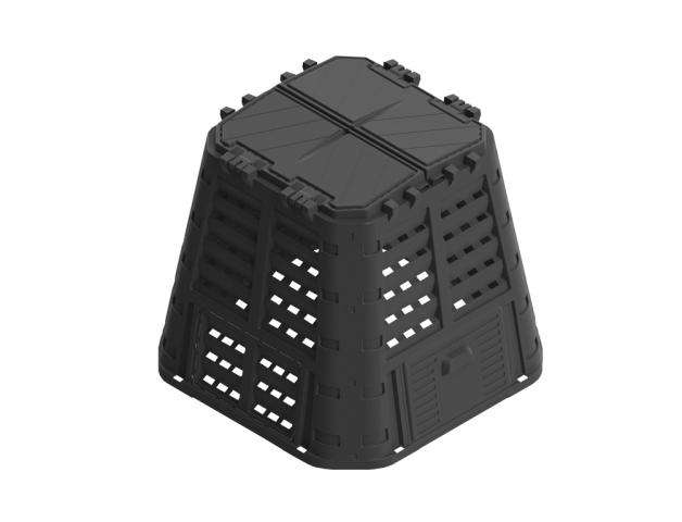 Komposter PROMO plastový černý 480l