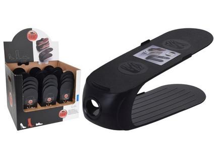 organizér na obuv 10,5x26,3x15cm plastový, ČER