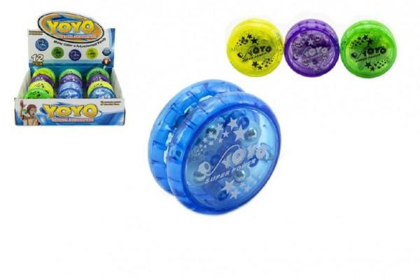 Jojo plast 6cm svítící - mix barev