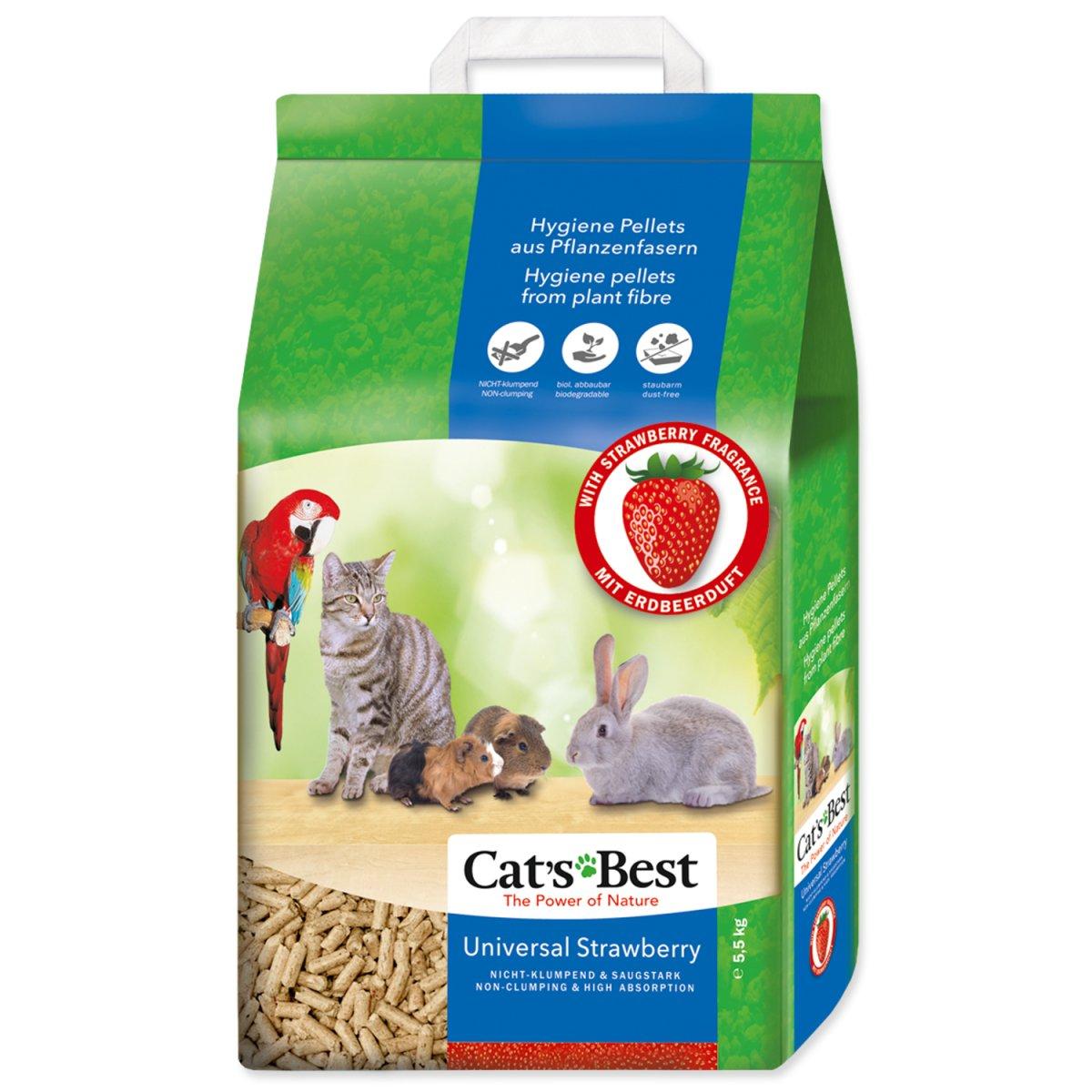 Kočkolit JRS Cat's Best Universal s jahodovou vůní (10l)