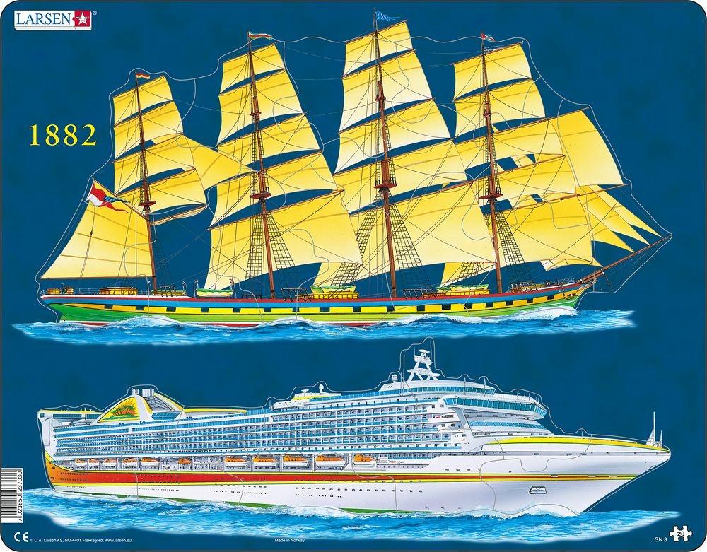 Puzzle Lodní doprava 20 dílků