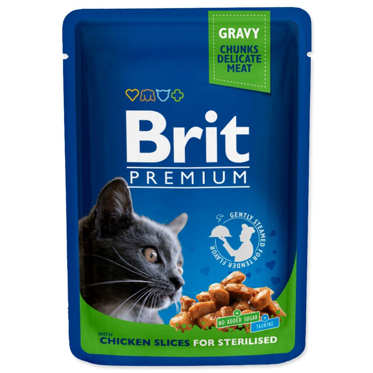 Kapsička BRIT Premium Cat Chicken Slices for Sterilised (100g)