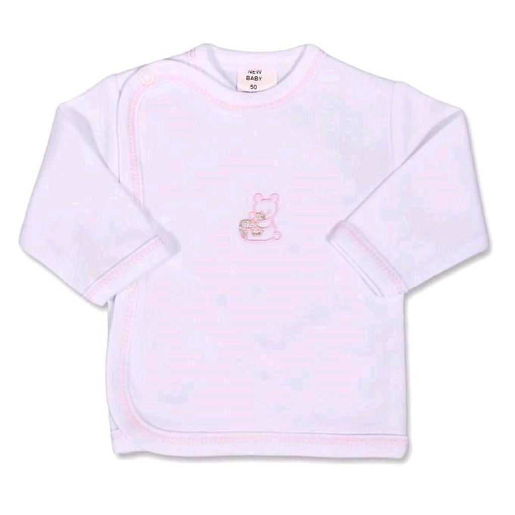 Kojenecká košilka s vyšívaným obrázkem New Baby růžová - 50