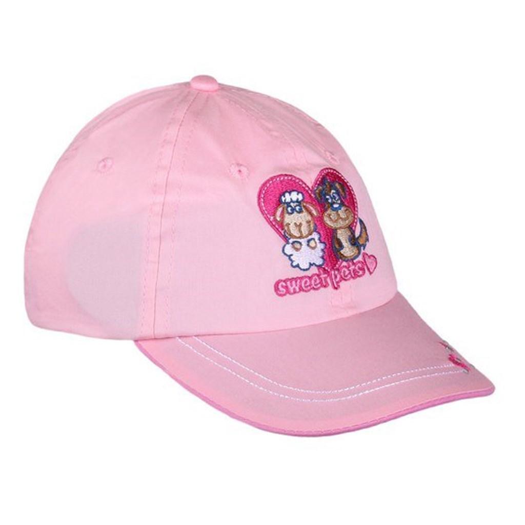 Letní dětská kšiltovka New Baby Sweet Pets světle růžová - 110 (4-5r)