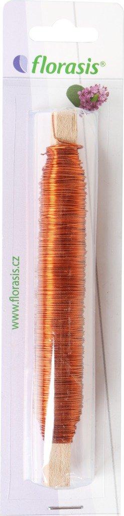 Drát měděný - 0,5 mm x 100 g oranžový