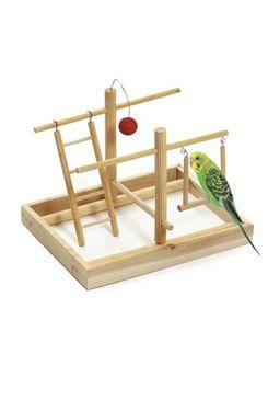 Hračka pták Hřiště 28x23x23cm dřevo KAR 1ks